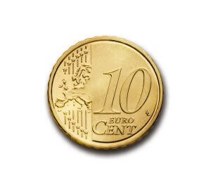 euro 10 cent coin representing top 10 SAT tips