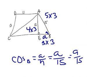recognize a 3:4:5 triangle