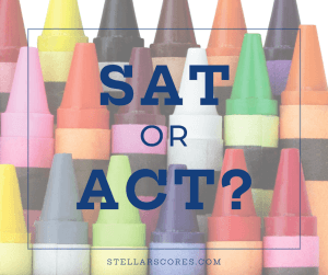 crayons with SAT or ACT