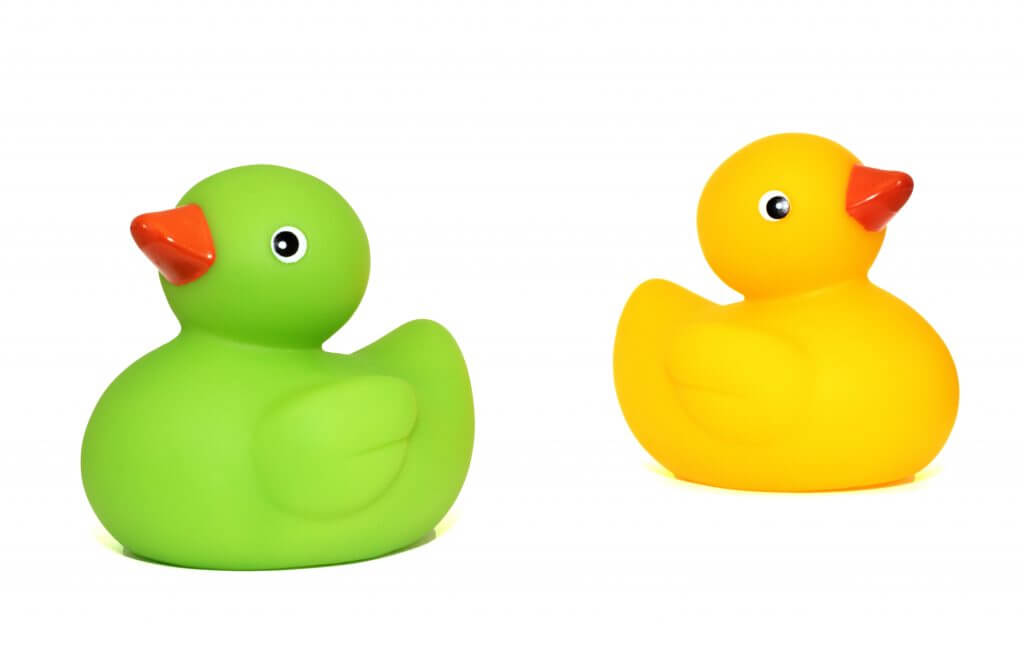 two ducks to illustrate SAT vs ACT