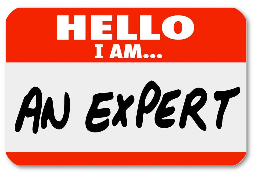 Hello I am an expert name tag